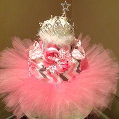 Baby girl diaper Cake for baby shower gift or centerpiece on Etsy, $55.00