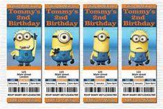 Minion Birthday Invitations - Bing Images