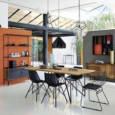 Chaise en métal noire Orsay | Maisons du Monde