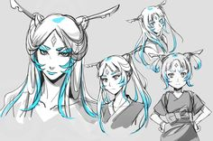 The Legend of Korra: raava as a human and the weaker she gets the younger she becomes. Awwww! That's so cute! (she looks like Midna)
