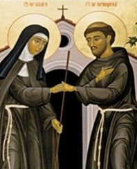 St Francis and St Clare - bffs