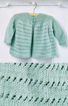 Free Knitting Pattern for an Easy Yoke Baby Cardigan ⋆ Knitting Bee