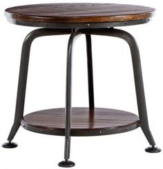 Industrial Park Side Table  Bring Rustic Style to Your Living Room with This Industrial-Inspired End Table  Item # 05367