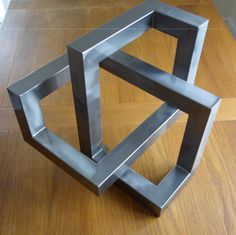 Metal trefoil sculpture Large optical illusion by CaveSparks