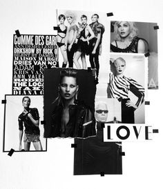 black and white moodboard Vogue Home, Mood And Tone, Riot Grrrl, Collage Design, Art Graphique, Ad Design, Wall Collage, Wall Art, Mood Boards