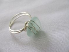 Wire Wrapped Sea Glass from Scotland