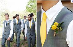 More grooms and groomsmen are opting to eliminate the jacket and only wear the vests. It's a modern twist that I like.