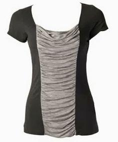 diy: camiseta con el centro drapeado