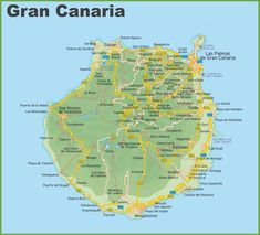 Really useful map of Puerto Rico in GranCanaria httpwww