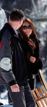 William, Kate & Harry are in Switzerland to attend the wedding of old friend Mark Tomlinson 1 March 2013.