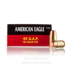Federal 45 GAP Ammo - 50 Rounds of 185 Grain TMJ Ammunition #45GAP #45GAPAmmo #Federal #FederalAmmo #Federal45GAP #TMJ #AmericanEagle