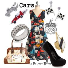 """""""Cars by Pixar"""" by thejoyofdisney on Polyvore; I love the silhouette of the dress."""