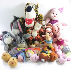 24-WINNIE-THE-POOH-FRIENDS-Stuffed-Animal-Plush-Eeyore-Tigger-Piglet-McDonalds