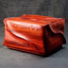 Urn / Wood Cremation Urn / Padauk Cremation Urn / Funeral urn