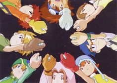 Digimon Adventure. When the Digidestined go back to the Digital World after defeating Myotismon in the real world.