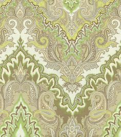 Home Decor Print Fabric- Waverly Paisley Verse Mineral