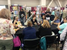 Candice Sexton teaching bead crochet at the 2015 Bead&Button Show!