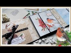 Tuto Mini Album Folio Smile of Winter - YouTube