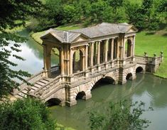 One of only four Palladian bridges of this sort in the world, found in Prior Park Landscape Garden, an landscaped garden south of Bath, Somerset England Oh The Places You'll Go, Places To Travel, Places Ive Been, Places To Visit, Voyage Europe, England And Scotland, Somerset England, England Uk, Parcs