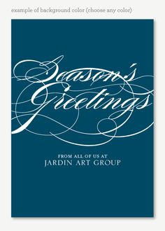 Holiday Elegance Corporate Holiday Card - Modern Corporate Holiday Card
