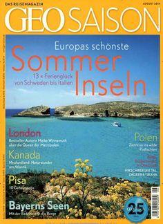 Europas schönste Sommer-Inseln Gefunden in: Geo Saison Nr. 08/2014