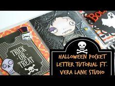 Halloween Pocket Letter Tutorial Ft. Vera Lane Studio *Coupon Code* - YouTube