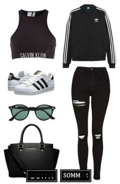 """""""School"""" by april-baby123 ❤ liked on Polyvore featuring adidas Originals, Calvin Klein, Topshop, MICHAEL Michael Kors and Ray-Ban 