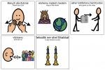 Shabbat candle blessing in picture symbols