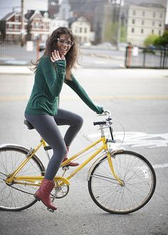 Cycle joy (even if I do wish she was wearing a helmet)