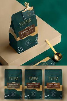 #coffee #coffeepackagingdesign #packagingdesign #coffeepouchpackaging Popcorn Packaging, Pouch Packaging, Coffee Packaging, Brand Packaging, Coffee Labels, Coffee Logo, Coffee Type, Food Packaging Design, Packaging Design Inspiration