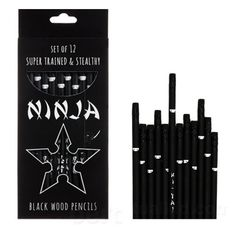 Ninja Pencils! Be afraid not of the pencil, but the one who wields it.....