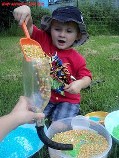 """This Australian """"mum"""" does amazing stuff with her 2 year old....some of it reminds me of all the sensory activity my kids did at Montessori Preschool years ago"""