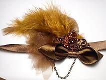 Vintage romantic feather diy headband hair piece on Sashe, romantická ručne robená vintage retro čelenka na Sashe - Čelenky - Tee and cinnamon.. čelenka - 5939173_