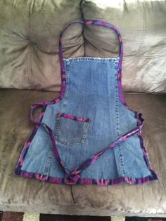 Upcycled Wrangler Jean apron.  Done and ready for Bazaar.  Upcycled_diva