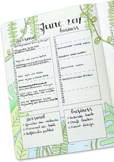 Monthly Spread van Planning Routine