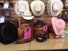 Don't forget about our Brand New western boots, hats, and belts!!! Come in and check them out!