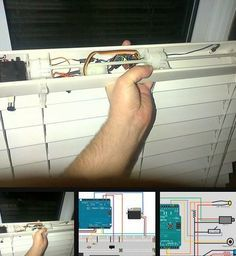 Make automated window blinds using Arduino! https://homeawesomation.wordpress.com/2013/02/26/automated-window-blinds-with-arduino/