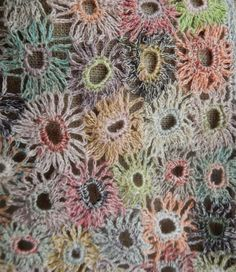 """Supernova"" small linen scarf   Sophie Digard crochet"