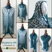 Blueberry Hill - A free pattern on StitchesNScraps.com