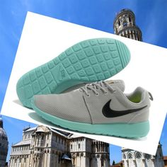 separation shoes 097c6 bbf88 Ufficiale Economico Nike Roshe Run Donna Grigio Bamboo Verde Maglia  Junio.Wearing it ,You