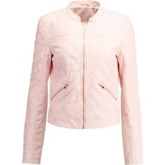 Noisy May NMROSA Kurtka ze skóry ekologicznej pearl blush Blush, Leather Jacket, Athletic, Zip, Boho, Jackets, Pearl, Fashion, Studded Leather Jacket