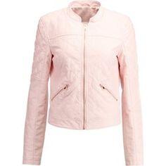 Noisy May NMROSA Kurtka ze skóry ekologicznej pearl blush Blush, Leather Jacket, Athletic, Boho, Zip, Jackets, Pearl, Fashion, Studded Leather Jacket