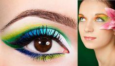 Maquillaje tropical se basa en la variedad de colores, perfecto para la primavera y el verano inspirado en flores.   Los colores característicos son el blanco, amarillo y verde. A las chicas que mejor les sentará este estilo serán a las que tengan la piel morena y ojos oscuros, consiguiendo una mayor luz en la mirada.