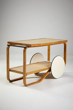 Tea trolley model 901, 1935, Alvar Aalto for Artek, Finland