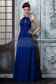 A-Line High-Neck Halter Sequins Long Evening Dress - looking for a nice formal dress
