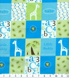 Snuggle Flannel Fabric-Little Buddy Blue, Joann Fabrics. (I like this for receiving blankets...)