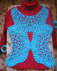 Sidney Artesanato: Toalhinhas virando lindas blusas Crochet Headband Tutorial, Victorian Collar, Crochet Instructions, Beautiful Blouses, Crochet Designs, Vest Jacket, Crochet Clothes, Refashion, Crochet Lace