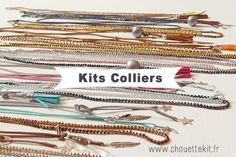 Kits colliers by Bling Bling, Necklaces, Diy, Baby Born, Jewerly, Bricolage, Do It Yourself, Collar Necklace, Wedding Necklaces