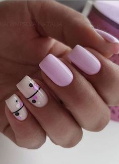 Rounded Acrylic Nails, Classy Acrylic Nails, Short Square Acrylic Nails, French Acrylic Nails, Short Square Nails, Blue Acrylic Nails, Nail Pink, Nail Nail, Short Nails