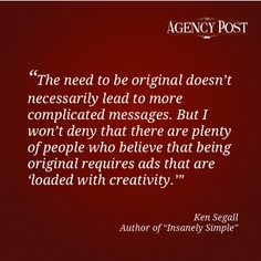 """POV: Interview with Ken Segall author of """"Insanely Simple""""    http://www.agencypost.com/pov-interview-with-ken-segall/"""